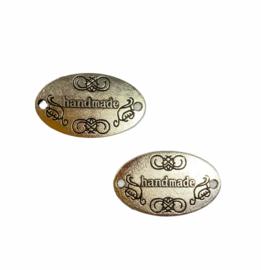 Handmade label metaal (antique zilver)