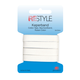 Restyle Keperband 10mm - Wit