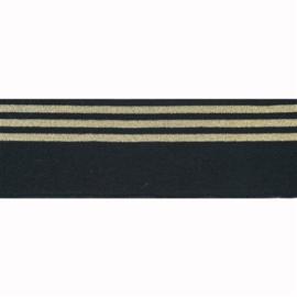 Boord lurex streep zwart - col. 000