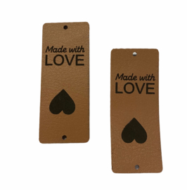 Label Made with LOVE  ♥ - Taupe