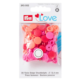 Prym Love Drukknopen 12,4 mm Rood/Roze (Colorsnaps)
