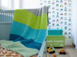 Soft & Teddy gebreid dekenpakket BLUE