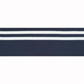Boord dubbele streep blauw - col. 210