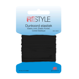 Restyle dunkoord Elastiek 1,4mm - Zwart
