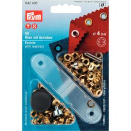 Prym Ringen/Schijven 4mm Goud