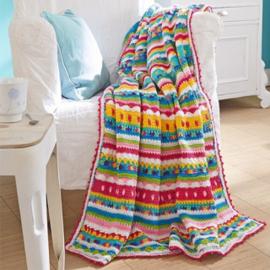 Kleurrijk gehaakte deken Catania