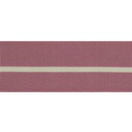 Boord met streep oudroze/ecru - col. 776