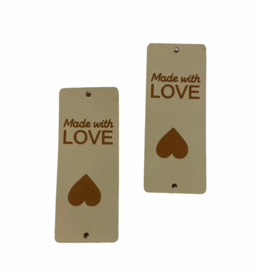 Label Made with LOVE  ♥ - Beige / Cognac