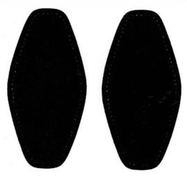 Elleboogstukken - Zwart no. 000