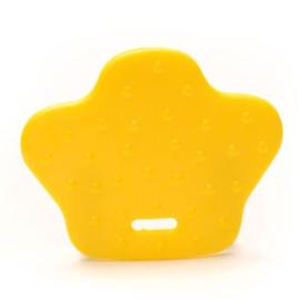 Bijtring Dierenpoot  2 stuks geel