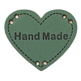 Label HEART Hand Made - Petrol