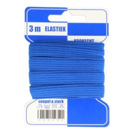 Elastiek 10mm blauw - 3 meter