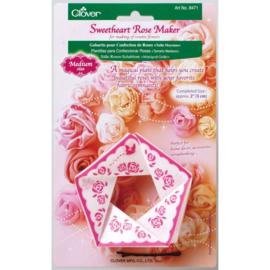 Clover Sweetheart Rose Maker Medium