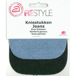 Kniestukken - Jeans Combi