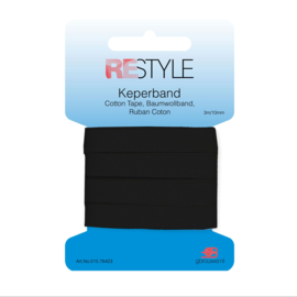 Restyle Keperband 10mm - Zwart