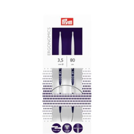 Rondbreinaalden Prym Ergonomics 80 cm 3,5 mm