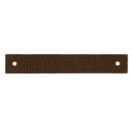 Donkerbruin Leren Label Handmade