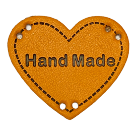 Label HEART Hand Made - Oker