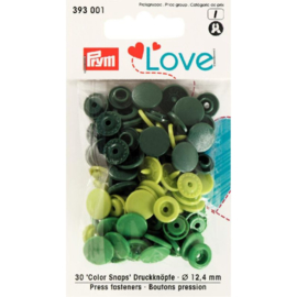 Prym Love Drukknopen 12,4 mm Groen (Colorsnaps)