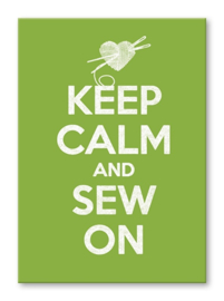 Kaart 'Keep calm and sew on'