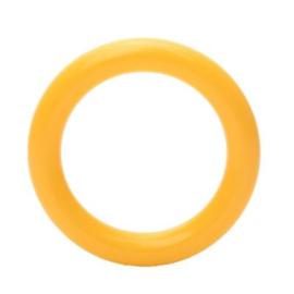 Plastic ringetjes 40 mm - Geel col. 645