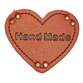 Label HEART Hand Made - Framboos
