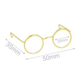 Bril voor knuffels - goud