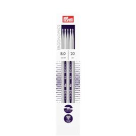 Prym Ergonomics sokkenbreinaalden 20 cm 8,0 mm