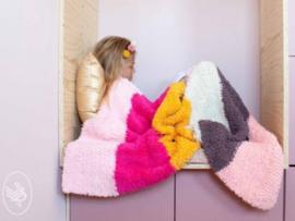 Soft & Teddy gebreid  dekenpakket PINK