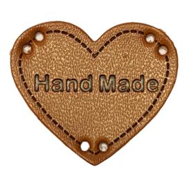 Label HEART Hand Made - Cognac