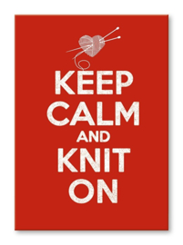 Kaart 'Keep calm and knit on'