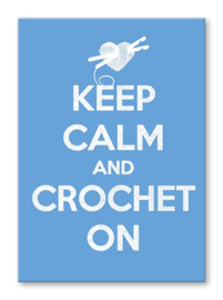 Kaart 'Keep calm and crochet on'
