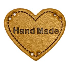 Label HEART Hand Made - Beige