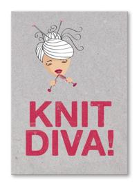 Kaart 'Knit Diva !'