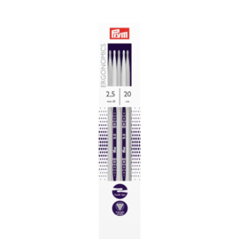 Prym Ergonomics sokkenbreinaalden 20 cm 2,5 mm