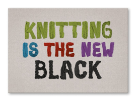Kaart 'Knitting is the new Black'