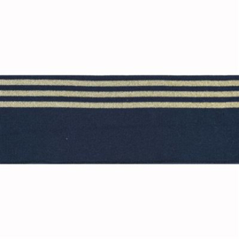 Boord lurex streep blauw - col. 210