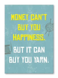 Kaart 'Money can't buy you happiness'