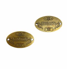 Handmade label metaal (brons)