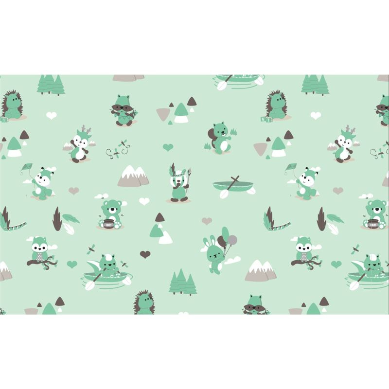 Dennis Little Woodland Adventures tricot stof Play in the Forest
