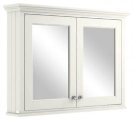 KSM0360W Klassieke spiegelkast wit 1050mm breed