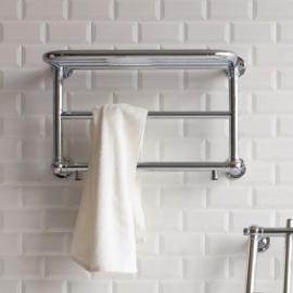 KSR0010 klassieke handdoekverwarming met oplegdeel, chroom