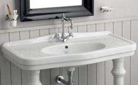 HOT0007 Gamma,  Nostalgische wastafelkraan, lavabo kraan  hoge uitloop, mengkraan
