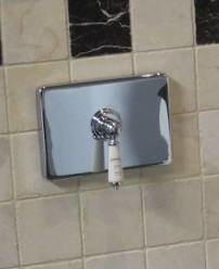 KSWP002 Klassieke toilet wandplaat chroom compleet MET een inbouwsysteem van TECE