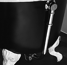 KSBA0001 Bad afvoerset met sifon chroom voor gietijzeren baden