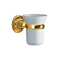 KSA203 klassieke bekerhouder in chroom, goud of brons