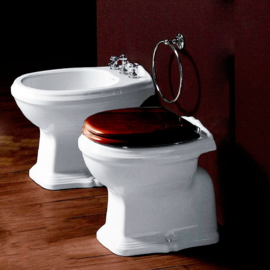 Losse klassieke toiletpotten met achter onder vloer aansluiting