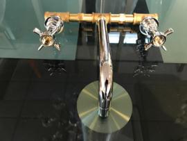 KSK0022 klassiek inbouwkraan met Alfa grepen lengte uitloop 20cm