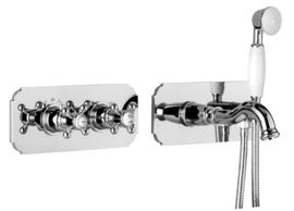 X-KSKA0032 klassieke inbouw  bad thermostaatkraan chroom compleet