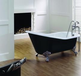 KSB0003 Slipper, klassiek vrijstaand gietijzeren bad op pootjes  / badkuip
